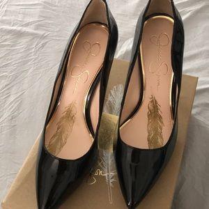 Jessica Simpson Black parent leather heels